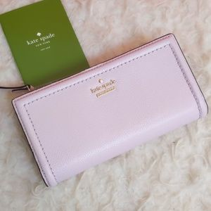 NWT Kate Spade Braylon Wallet Peonyblush Lilac